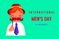 INTERNATIONAL MEN'S DAY Poster template