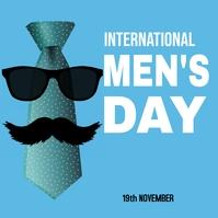 international mens day Instagram Post template