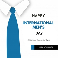 International mens Day Publicación de Instagram template