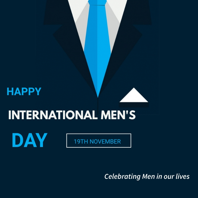 International mens Day Instagram Plasing template