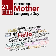 International Mother Language Day Post Instagram template