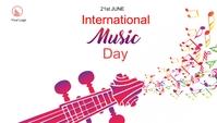 International Music day Blog Header post template