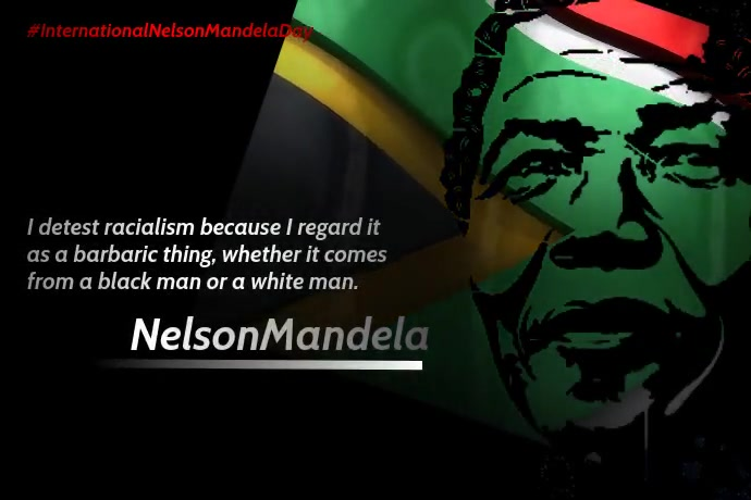 International Nelson Mandela Day Template Плакат