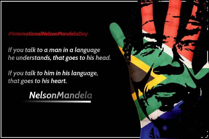 International Nelson Mandela Day Template Poster