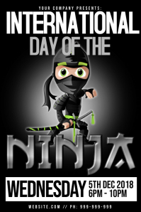 International Ninja Day Poster