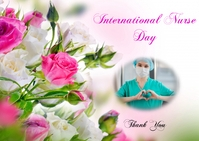 international nurse day ไปรษณียบัตร template