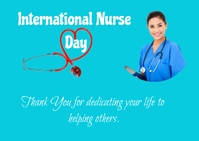 international nurse day Postcard template