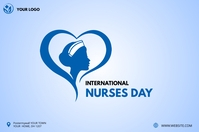 International Nurses Day Banner Cartel de 4 × 6 pulg. template