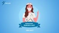 International Nurses Day Twitter-bericht template