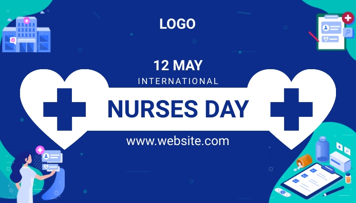 International Nurses Day ส่วนหัวบล็อก template