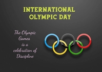 international Olympic day Postcard template