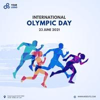 International olympic day Kvadrat (1:1) template