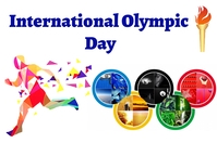 International Olympic Day Label template