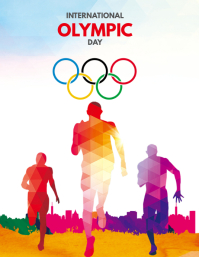 International olympic day ใบปลิว (US Letter) template