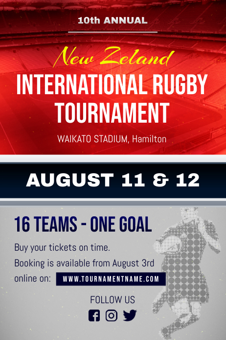 International Rugby Tournament Poster Template