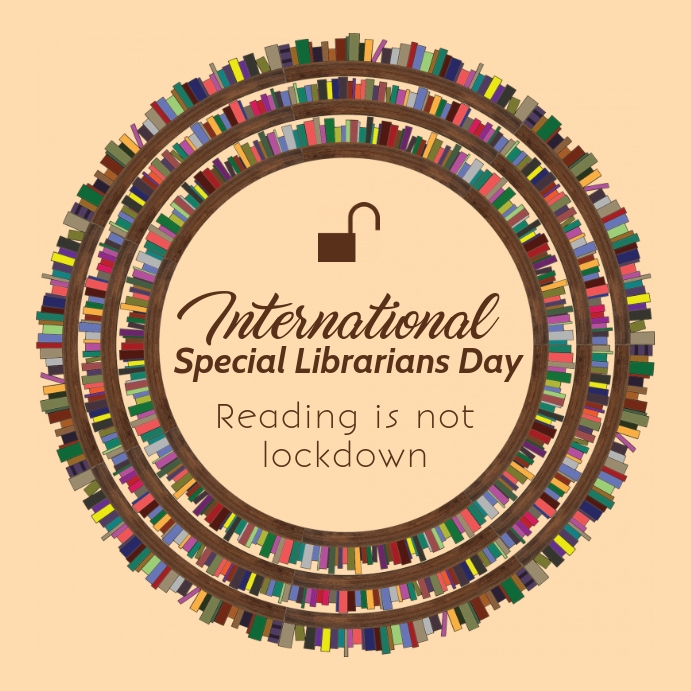 International Special Librarians Day Poster Square (1:1) template