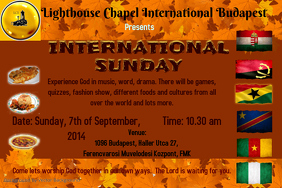 International Sunday celebration