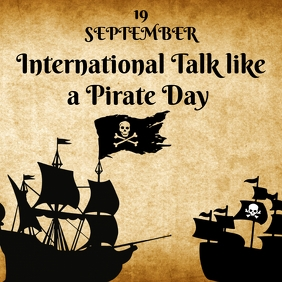 International Talk like a Pirate Day Instagram Post template
