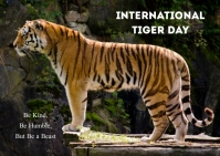 international tiger day Briefkaart template