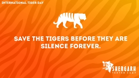 International Tiger Day Template Facebook Cover Video (16:9)