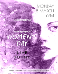 International Women's Day Celebartion ใบปลิว (US Letter) template