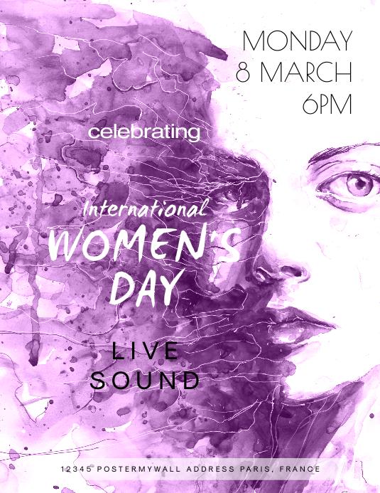 International Women's Day Celebartion Ulotka (US Letter) template