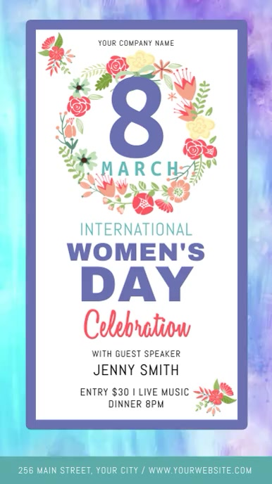 International Women's Day Celebration Digital Display Video