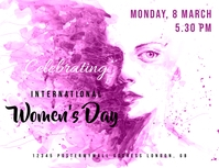 International Women's Day celebration flyer ใบปลิว (US Letter) template