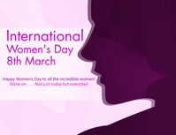 INTERNATIONAL WOMEN'S DAY Flyer (US Letter) template