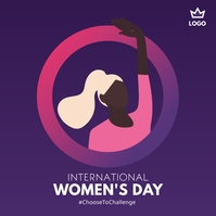 International Women's Day Publicación de Instagram template