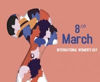 International Women's Day Mellemstort rektangel template