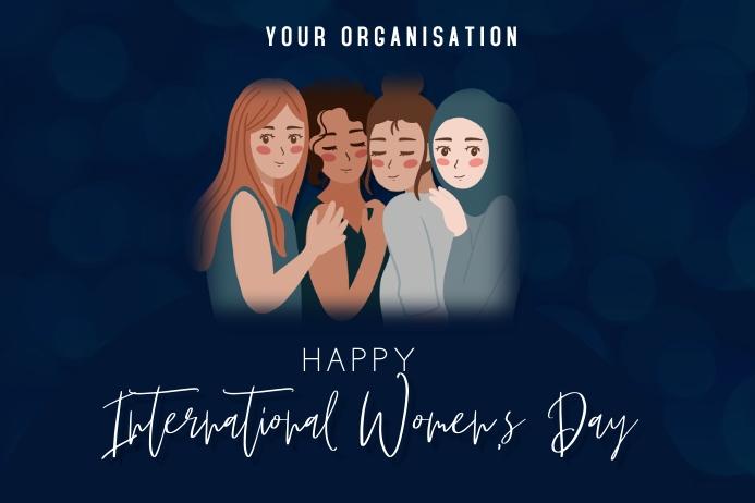 International women's day Plakat template