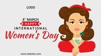 International Women's Day งานแสดงผลงานแบบดิจิทัล (16:9) template
