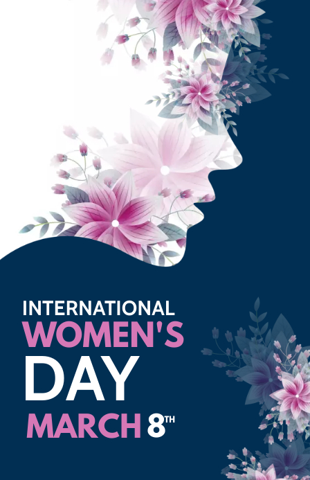 international women's Day Half Page Wide template