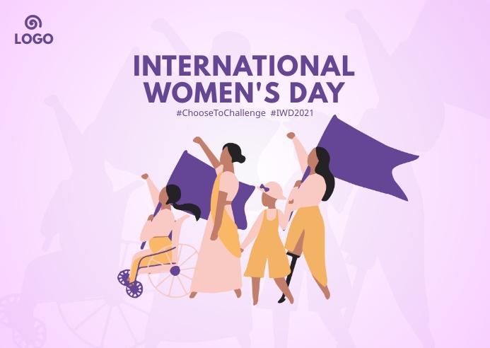 International Women's Day ไปรษณียบัตร template