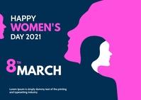 international women's Day Postcard template