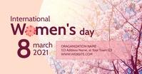International Women's Day Event Gambar Bersama Facebook template