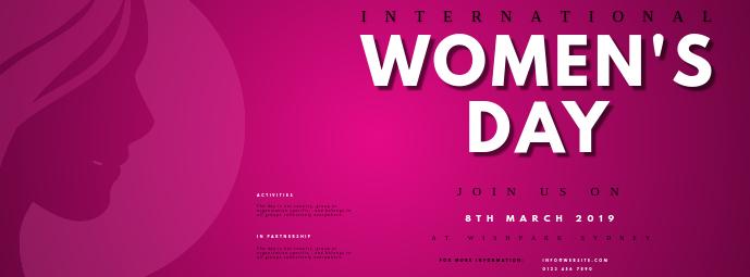 INTERNATIONAL WOMEN'S DAY FACEBOOK COVER TEMPLATE