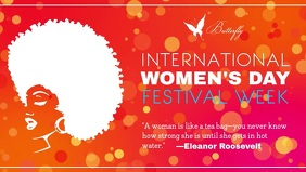 International Women's Day Festival Week Quote Facebook Cover