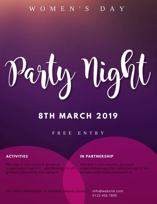 INTERNATIONAL WOMEN'S DAY PARTY TEMPLATE