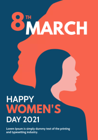 international women's Day Poster A4 template