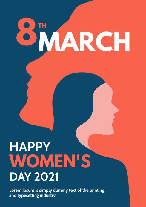 international women's Day Poster A4 template