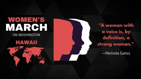 International Women's Day Quote Facebook Cover Video