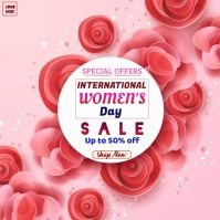 International Women's Day sale Template Instagram-opslag
