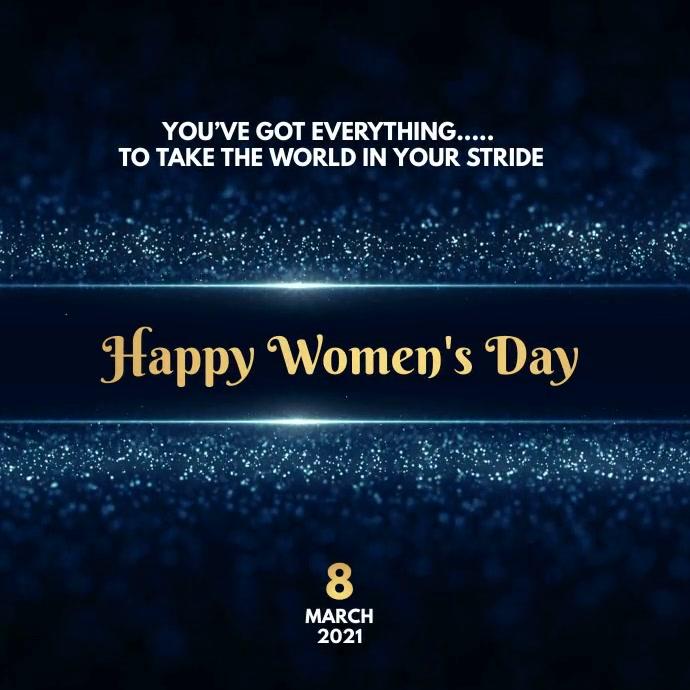 international women's Day Wishes Instagram 帖子 template