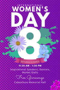International Women's Day Conference Poster Template