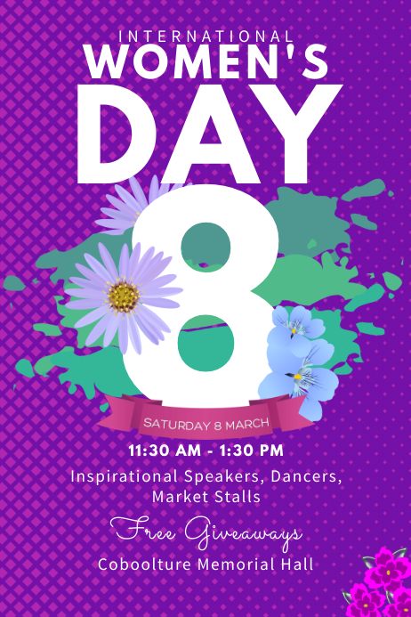 International Women's Day Conference Poster Template Plakat