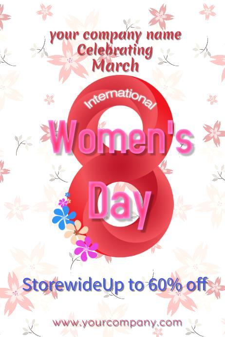 International Women's Day Flyer Infinity 8
