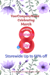 International Women's Day Flyer Infinity 8