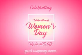 International Women's Day Flyer Poster template